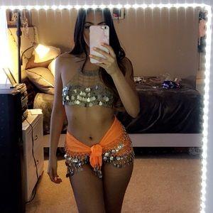 Coin bra & skirt set ✨✨ Sexy gypsy costume